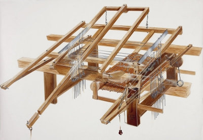 a hand loom witch mechanism