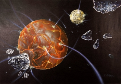 earth's crust and asteroides